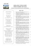 Tạp chí Khoa học Công nghệ Nông nghiệp Việt Nam: Số 6/2019