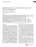 Nghiên cứu nuôi cấy in vitro noãn và bao phấn ớt (Capsicum sp.) phục vụ tạo dòng đơn bội kép