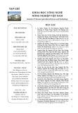 Tạp chí Khoa học Công nghệ Nông nghiệp Việt Nam: Số 8/2019