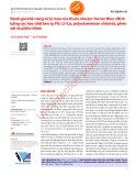 Đánh giá khả năng xử lý màu của thuốc nhuộm Tarcon Blue 2BLN bằng các hóa chất keo tụ PGα21Ca, polyaluminium chloride, phèn sắt và phèn nhôm