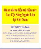 Bài giảng Quan điểm điều trị hiện nay lao cột sống người lớn tại Việt Nam