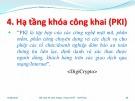 Bài giảng Quản lý khóa trong mật mã - Hạ tầng khóa công khai (PKI)
