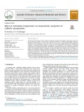 Effect of calcinatio n temperature on characteristic properties of CaMoO4 nanoparticles