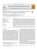 Simulat ion stud ies on the responses of ZnO-Cu O/CNT nanocomp osite based SAW sensor to various volatile organic chemic als