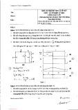 Đáp án kiểm tra cuối kỳ môn Cơ sở điện tử học công suất lớn