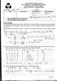 Đề thi học kỳ môn Xử lý tín hiệu số