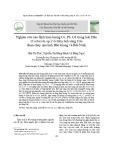 Nghiên cứu xác định hàm lượng Cu, Pb, Cd trong loài Hến (Corbicula sp.) và trầm tích sông Cầu đoạn chảy qua tỉnh Bắc Giang và Bắc Ninh