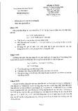 Đề thi cuối kỳ môn Ổn định hệ thống điện