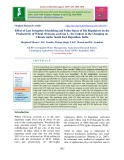 Effect of last irrigation scheduling and foliar spray of bio regulators on the productivity of wheat (Triticum aestivum L.) in context to the changing on climate under south East Rajasthan, India