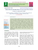 Antimicrobial and antioxidant effects of nerium oleander flower extracts