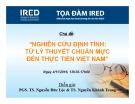 Bài giảng Nghiên cứu định tính: Từ lý thuyết chuẩn mực đến thực tiễn Việt Nam