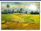 Bài giảng Kinh tế môi trường: Chương 1 - Nguyễn Quang Hồng