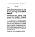 Development of snack containing meat by-products and its nutritional evaluation