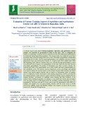 Evaluation of various training aspects of agriclinics and agribusiness centres (ACABC's) scheme in Rajasthan, India