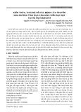 Kiến thức, thái độ về các bệnh lây truyền qua đường tình dục của sinh viên đại học tại Hà Nội năm 2019