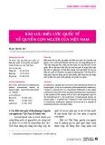 Bảo lưu điều ước quốc tế về quyền con người của Việt Nam