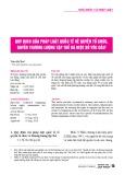 Quy định của pháp luật quốc tế về quyền tổ chức, quyền thương lượng tập thể và một số yêu cầu