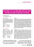 Khái niệm và các loại nhãn hiệu trong quy định của pháp luật Hoa Kỳ, Nhật Bản và Việt Nam
