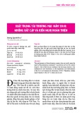 Luật Trọng tài thương mại năm 2010: Những bất cập và kiến nghị hoàn thiện