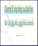 Bài giảng Giải tích 12 - Bài 1: Sự đồng biến, nghịch biến của hàm số (Phạm Danh Hoàn)