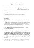 Mẫu Hợp đồng cho thuê thiết bị (Equipment lease agreement)
