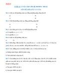 Bài tập Toán lớp 9: Luyện tập giải hệ phương trình, liên hệ giữa dây và cung