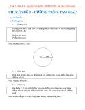 Chuyên đề Toán lớp 7 – Hình học: ĐƯờng tròn, tam giác