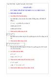 Chuyên đề 2: Lũy thừa với số mũ tự nhiên và các phép toán
