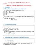 Chuyên đề Toán lớp 9 - Hình học: Hệ thức lượng trong tam giác vuông