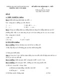 Đề kiểm tra Hình học lớp 9 – Trường THCS Tân Định