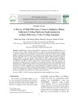 A survey of high efficiency context addaptive binary arithmetic coding hardware implementations in high efficiency video coding standard