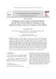 Comparison of the capital asset pricing model and the three factor model in a business cycle: Empirical evidence from the Vietnamese stock market