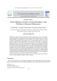 Finite difference scheme for initial boundary value problems in financial mathematics