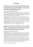Thực trạng và một số yếu tố liên quan đến tiếp cận nhà tiêu hợp vệ sinh ở người dân tộc thiểu số xã Long Sơn, huyện Đăk Mil, Đăk Nông, năm 2019
