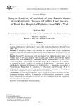 Nghiên cứu sự nhạy cảm với kháng sinh của một số chủng vi khuẩn gây viêm đường hô hấp cấp ở trẻ em dưới 6 tuổi tại Bệnh viện Nhi Thanh Hóa 2009 - 2014