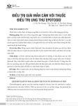 Điều trị giải mẫn cảm với thuốc điều trị ung thư Epotosid