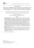 Ứng dụng thang điểm PRESS trong phân loại nhiễm khuẩn hô hấp cấp ở trẻ em tại Bệnh viện Nhi Trung ương