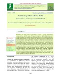 Pesticides usage: Effect on human health