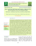 Single cross hybrid of QPM maize seed production as influenced by row ratio and spacing in North Western Himalayan Region