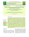 Influence of varying environment on rice varieties under upland condition of Madhya Pradesh, India