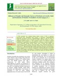 Influence of organic and inorganic sources of nutrients on growth, yield and economics of summer groundnut (Arachis hypogaea L.)