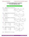 Chuyên đề Nhận dạng đồ thị hàm số
