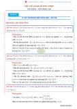 Bài tập vận dụng hàm số đơn điệu