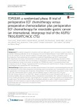 TOPGEAR: A randomised phase III trial of perioperative ECF chemotherapy versus preoperative chemoradiation plus perioperative ECF chemotherapy for resectable gastric cancer (an international, intergroup trial of the AGITG/ TROG/EORTC/NCIC CTG)
