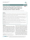 Anticancer drug sensitivity prediction in cell lines from baseline gene expression through recursive feature selection
