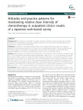 Attitudes and practice patterns for maintaining relative dose intensity of chemotherapy in outpatient clinics: Results of a Japanese web-based survey