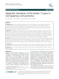 Epigenetic alterations of the keratin 13 gene in oral squamous cell carcinoma