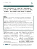Prognostic factors and treatment outcomes in patients with Small Bowel Adenocarcinoma (SBA): The Royal Marsden Hospital (RMH) experience
