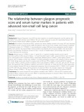 The relationship between glasgow prognostic score and serum tumor markers in patients with advanced non-small cell lung cancer