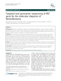 Targeted next generation sequencing of RB1 gene for the molecular diagnosis of Retinoblastoma